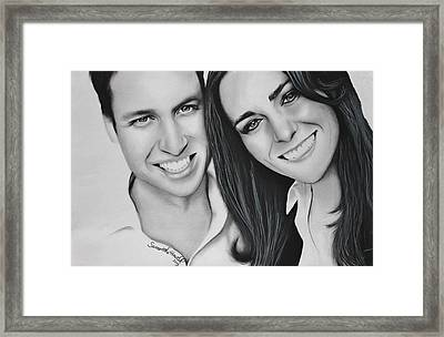 Kate And William Framed Print by Samantha Howell