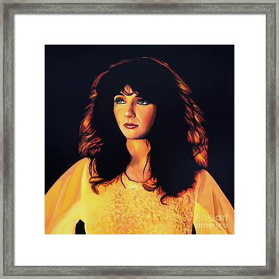 Kate Bush Painting Framed Print by Paul Meijering