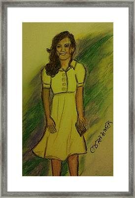 Kate Middleton Framed Print by Christy Saunders Church