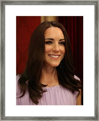 Kate Middleton Duchess Of Cambridge Framed Print