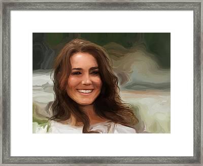Kate Middleton Framed Print by Jennifer Hotai