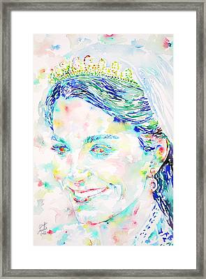 Kate Middleton Portrait.2 Framed Print