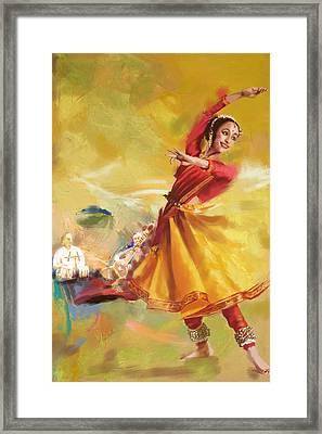 Kathak Dance Framed Print by Catf