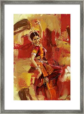 Kathak Dancer 6 Framed Print by Corporate Art Task Force
