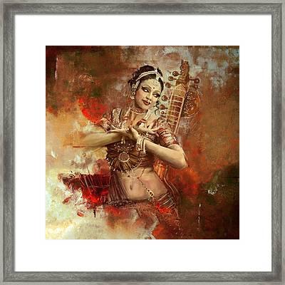 Kathak Dancer Framed Print by Corporate Art Task Force