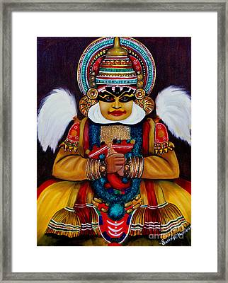 Framed Print featuring the painting kathakali.. Lord Shiva by Saranya Haridasan