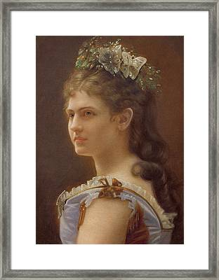 Katharina Schratt Framed Print by Anonymous