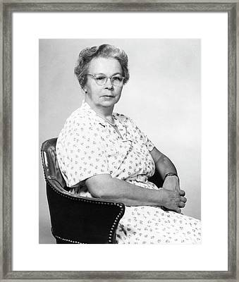 Katharine Blodgett Framed Print By Emilio Segre Visual Archives American Institute Of Physics