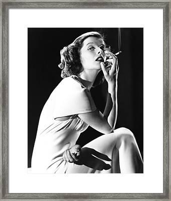 Katharine Hepburn Framed Print by Silver Screen