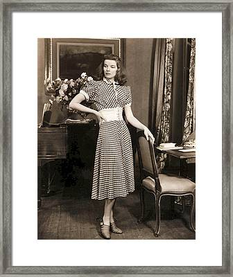 Katharine Hepburn Framed Print by Studio Release