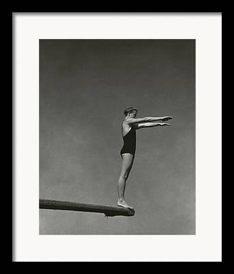 Diving Board Framed Prints