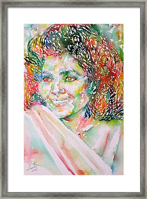 Kathleen Battle - Watercolor Portrait Framed Print by Fabrizio Cassetta