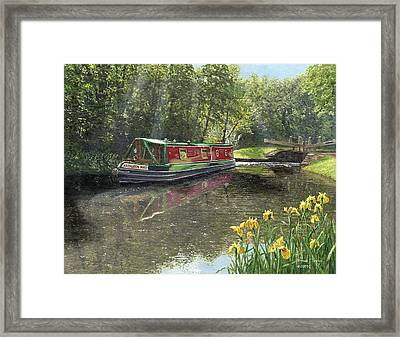 Kathleen May Chesterfield Canal Nottinghamshire Framed Print by Richard Harpum