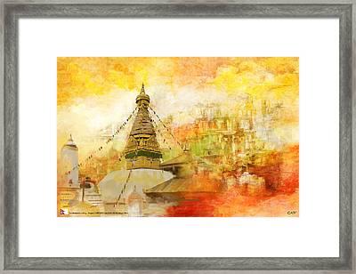 Kathmandu Valley Framed Print by Catf