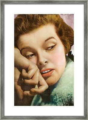 Kathryn Hepburn Framed Print by Studio Artist