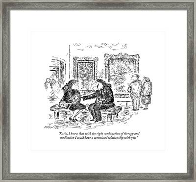 Katia, I Know That With The Right Combination Framed Print