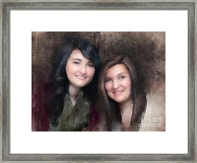 Katie And Sara Framed Print