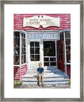 Katie At Bass Harbor Maine Framed Print by Lee Piper