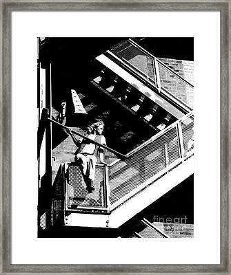 Katie-fire Escape Framed Print by Gary Gingrich Galleries