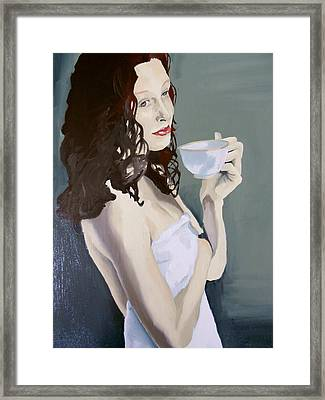 Katie - Morning Cup Of Tea Framed Print