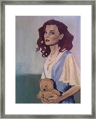 Katie - Teddy Bear Framed Print
