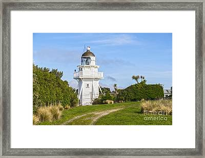 Katiki Point Lighthouse New Zealand Framed Print by Colin and Linda McKie