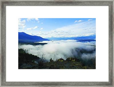 Katka Mountain Lookout Framed Print by Annie Pflueger