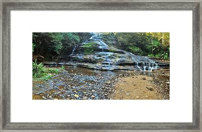 Katoomba Cascades Panorama Framed Print by Terry Everson