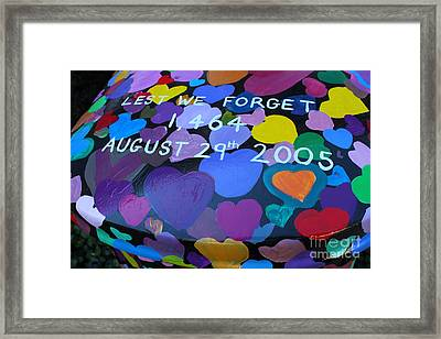 Katrina Casket Memorial Inscription Framed Print