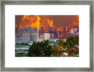 Katrina Storm Hits Cincinnati Framed Print