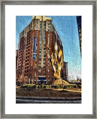 Katyn Memorial In Baltimore Framed Print