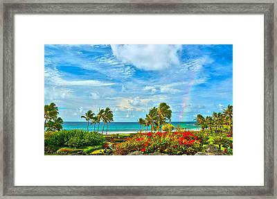Kauai Bliss Framed Print by Marie Hicks