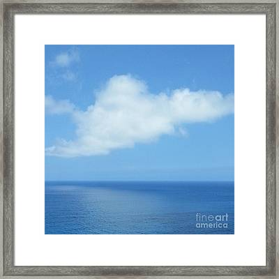Framed Print featuring the photograph Kauai Blue by Joseph J Stevens