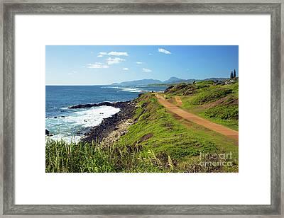 Kauai Coast Framed Print by Kicka Witte