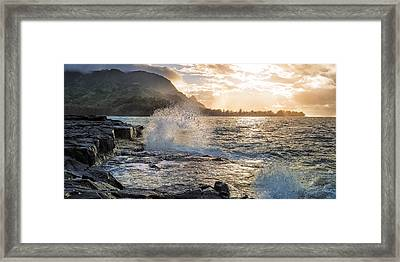 Framed Print featuring the photograph Kauai Coast by Hawaii  Fine Art Photography