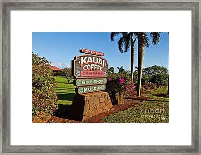 Kauai Coffee Framed Print by Scott Pellegrin
