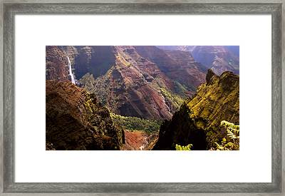 Framed Print featuring the photograph Kauai Colors by Katie Wing Vigil