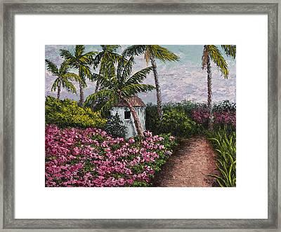 Kauai Flower Garden Framed Print