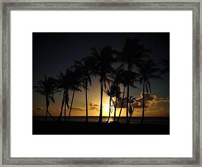 Kauai Morning Framed Print by Ange Sylvestri