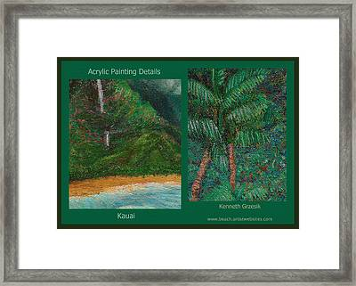 Kauai Painting Poster 3 Framed Print by Kenneth Grzesik