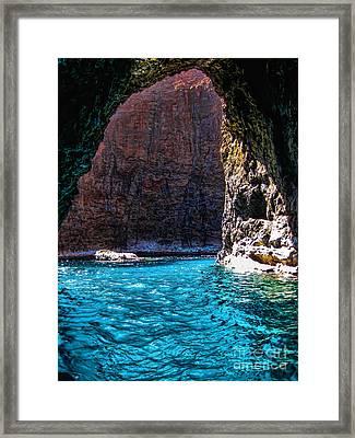 Kauai Sea Cave Framed Print by Baywest Imaging