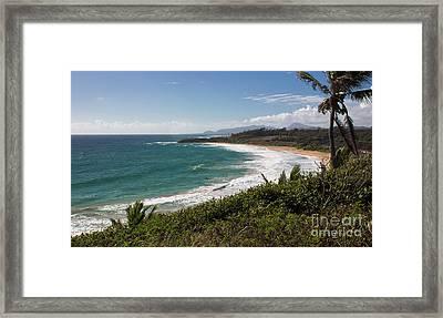 Kauai Surf Framed Print