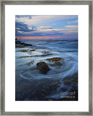 Kauai Tides Framed Print by Mike  Dawson