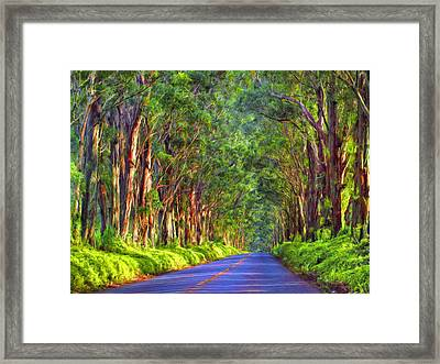 Kauai Tree Tunnel Framed Print by Dominic Piperata