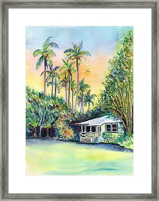 Kauai West Side Cottage Framed Print