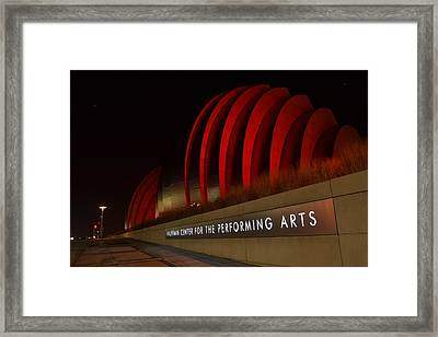 Kauffman Center Performing Arts 2 Framed Print by Shelley Wood
