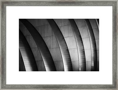 Kauffman Performing Arts Center Black And White Framed Print