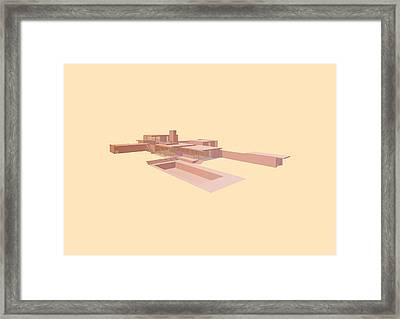Kaufmann House - Richard Neutra Framed Print by Peter Cassidy
