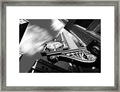 Kaufmann's Clock Framed Print by Emmanuel Panagiotakis