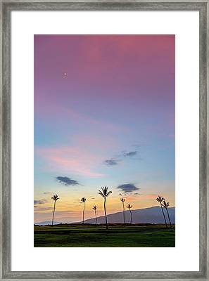 Kauhale Makai Sunset Framed Print by Pierre Leclerc Photography